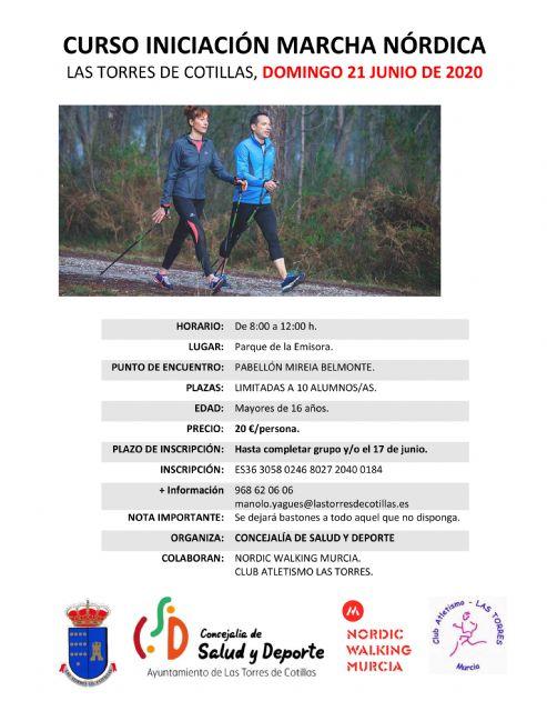 La Concejalía de Salud y Deportes organiza un curso de iniciación a la marcha nórdica - 1, Foto 1