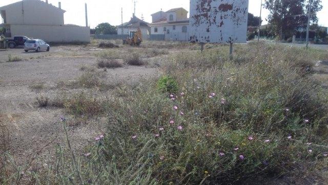 El Ayuntamiento está ejecutando la limpieza de solares municipales en el casco urbano y la pedanía de El Paretón-Cantareros