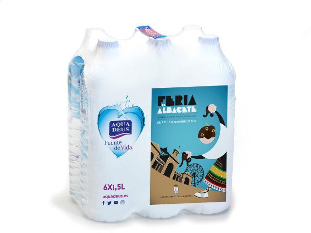 Aquadeus promociona la Feria de Albacete en las etiquetas de siete millones y medio de botellas de agua, Foto 2
