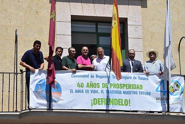 Totana se suma a la celebración del 40 aniversario del Trasvase Tajo-Segura