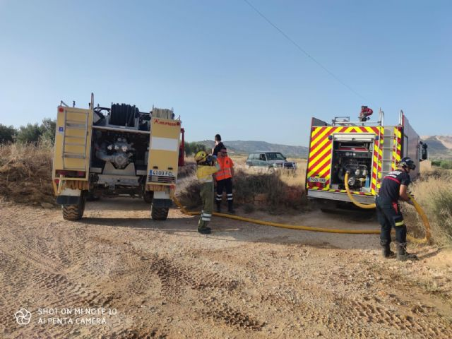 Incendio forestal en la pedanía abanillera Cañada de la Leña - 3, Foto 3