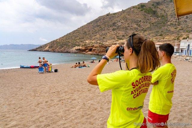 El dispositivo de vigilancia y salvamento en las playas de Cartagena realiza 400 asistencias sanitarias en junio - 1, Foto 1