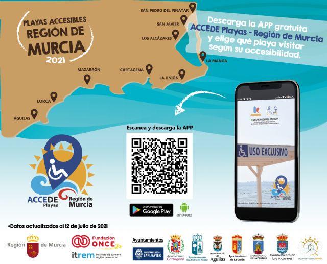 FAMDIF ha evaluado 71 playas de la Región de Murcia y 32 son Puntos Accesibles - 2, Foto 2