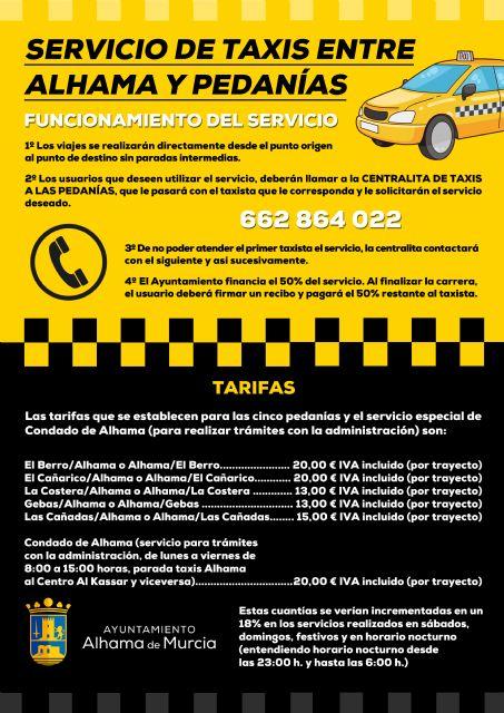 Servicio de taxis entre Alhama y pedanías, Foto 1