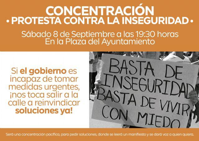 Convocan una concentración frente al ayuntamiento para decir basta a la inseguridad en Alguazas - 1, Foto 1