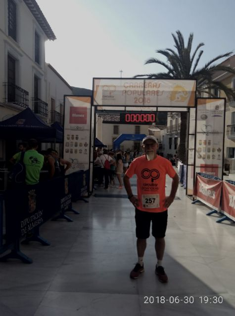 Juan Francisco García, from CAT, participated in Carrera Popular de Tíjola