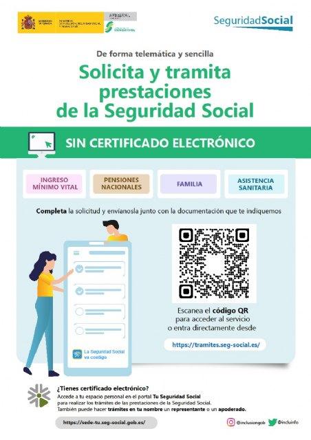 El Ayuntamiento informa sobre una nueva plataforma para solicitar prestaciones de la Seguridad Social - 1, Foto 1