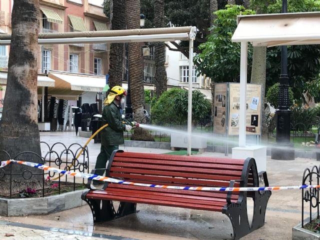 Las Brigadas Forestales de la Región de Murcia se suman a las labores de limpieza tras las lluvias - 2, Foto 2