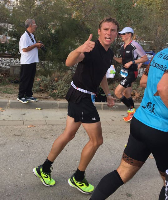 Thomas Bonsack del Club Totana Triathlón en el Ironman de Barcelona, Foto 1