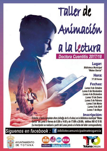 Abierto el plazo para inscribirse en el Taller de Animación a la Lectura Doctora Cuentitis, Foto 1