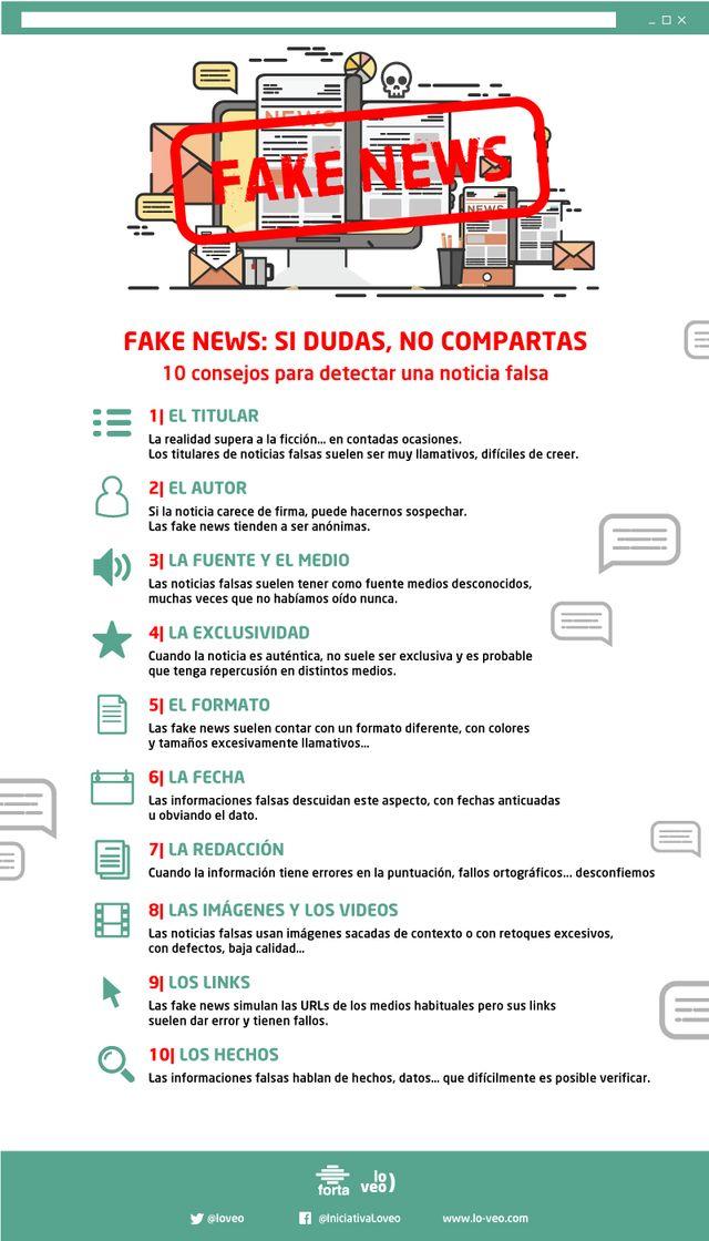 Lanzan un decálogo para facilitar a los internautas la detección de fake news: Si dudas, no compartas, Foto 1