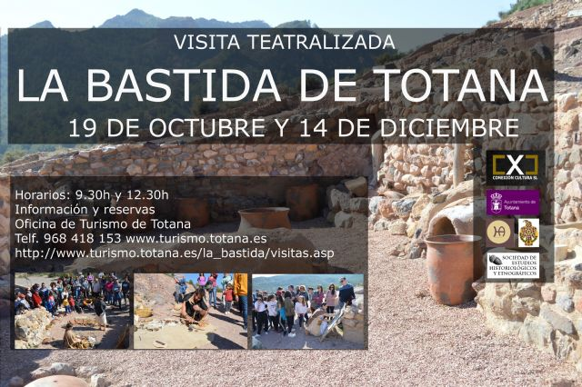 Programan para este otoño dos visitas teatralizadas y una ambientada al yacimiento de La Bastida, Foto 1