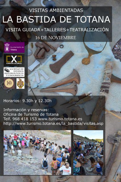 Programan para este otoño dos visitas teatralizadas y una ambientada al yacimiento de La Bastida, Foto 2