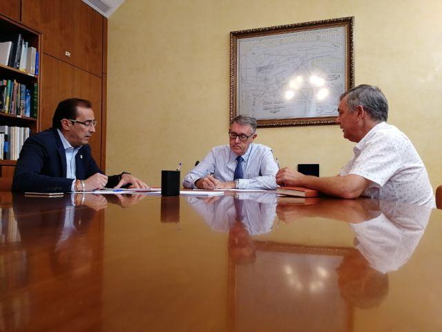 El presidente de la CHS se reúne con los alcaldes de Ojós y Ulea para estudiar los efectos de la pasada gota fría - 1, Foto 1