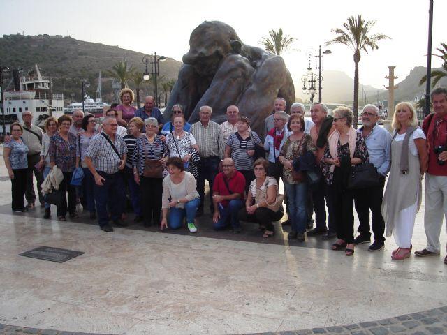 Visita a La Unión, Cabo de Palos y Cartagena de los usuarios del centro de día de personas mayores, Foto 1