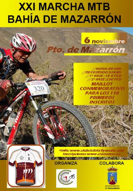 300 ciclistas participarán en la XXI marcha MTB Bahía de Mazarrón - 1, Foto 1