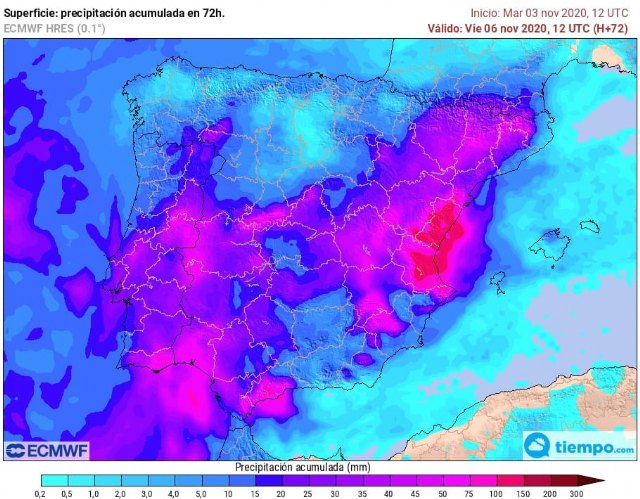 Civil Protection reports the weather forecast for tomorrow, Wednesday and Thursday
