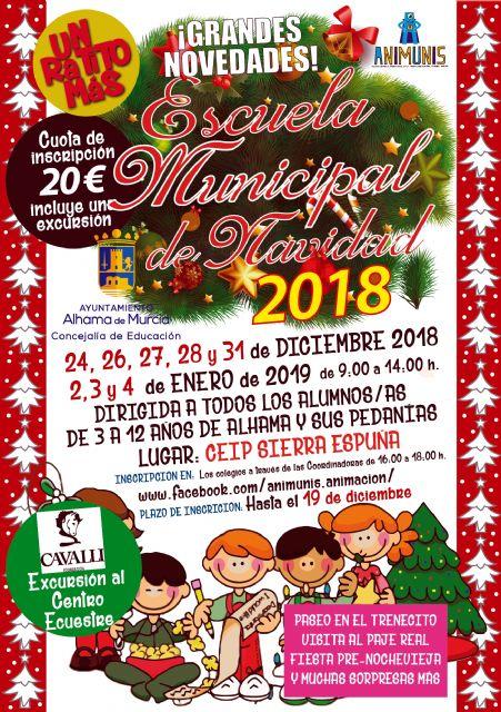 Abierto el plazo de inscripción para la Escuela Municipal de Navidad 2018, Foto 1