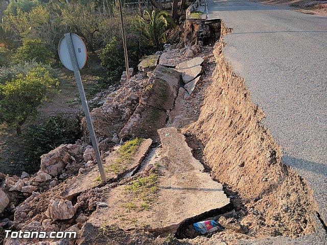 La carretera C7 de La Huerta permanecerá cortada el día de la romería del 7 de enero a consecuencia de los daños ocasionados por el temporal de lluvias, Foto 1