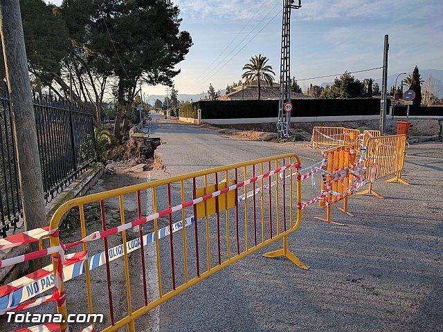La carretera C7 de La Huerta permanecerá cortada el día de la romería del 7 de enero a consecuencia de los daños ocasionados por el temporal de lluvias, Foto 2