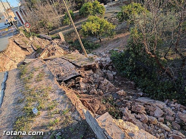 La carretera C7 de La Huerta permanecerá cortada el día de la romería del 7 de enero a consecuencia de los daños ocasionados por el temporal de lluvias, Foto 3