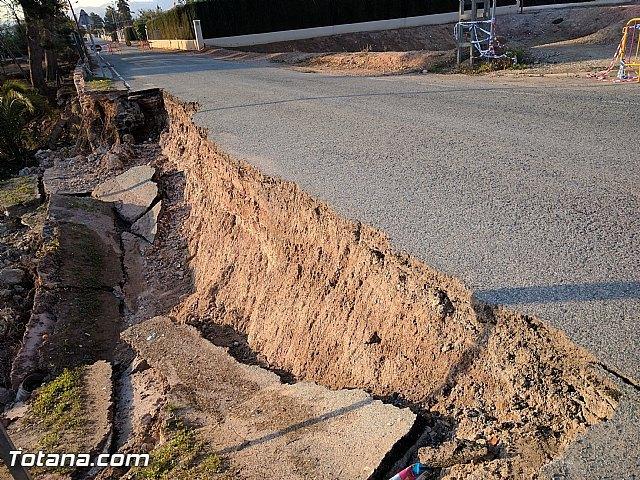 La carretera C7 de La Huerta permanecerá cortada el día de la romería del 7 de enero a consecuencia de los daños ocasionados por el temporal de lluvias, Foto 4