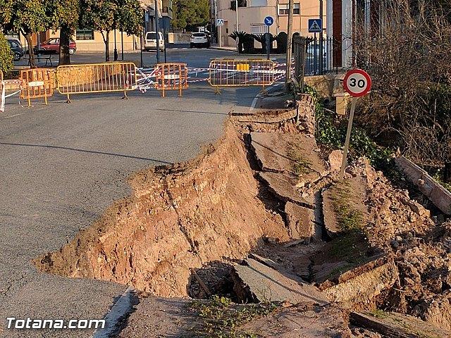 La carretera C7 de La Huerta permanecerá cortada el día de la romería del 7 de enero a consecuencia de los daños ocasionados por el temporal de lluvias, Foto 5
