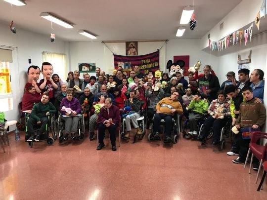 La Peña Barcelonista de Totana visita en Centro de Personas con Discapacidad Intelectual José Moya Trilla - 1, Foto 1