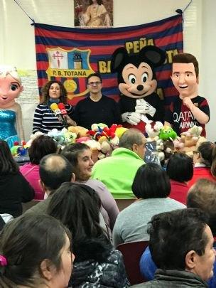 La Peña Barcelonista de Totana visita en Centro de Personas con Discapacidad Intelectual José Moya Trilla - 3, Foto 3