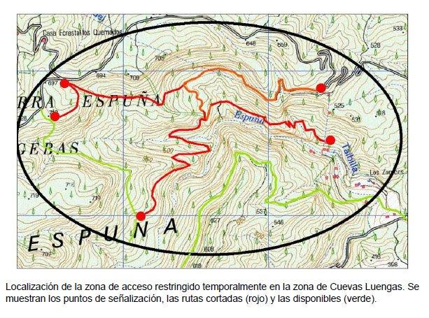 Cierre del acceso a las zonas de nidificación del águila real en Sierra Espuña, Foto 1