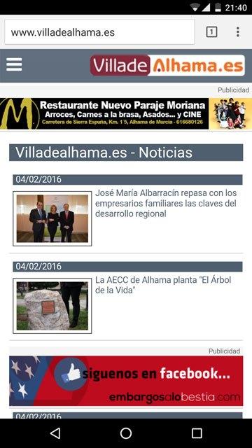 Villadealhama.es rediseña su web, Foto 2