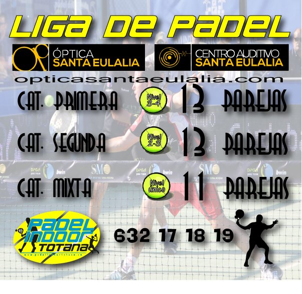 Arrancha la Liga de Padel Óptica Santa Eulalia 2016, Foto 1
