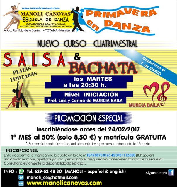 Nuevo curso de salsa y bachata en la Escuela de Danza Manoli Cánovas, Foto 1