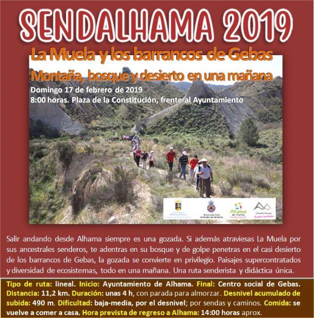 Abierto el plazo de inscripción para las dos primeras rutas de Sendalhama 2019, Foto 1
