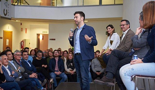 Diego Conesa y Pedro Saura arropan a Carlos López en su presentación como candidato a la Alcaldía - 1, Foto 1