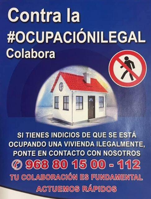 La Policía Local de Alcantarilla pide la colaboración ciudadana para frenar la ocupación ilegal de viviendas - 2, Foto 2