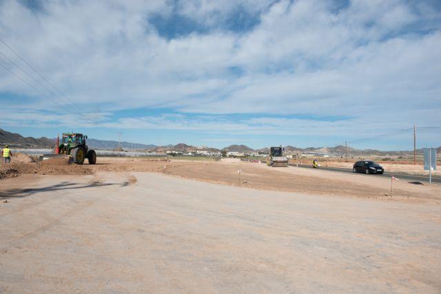 Se cierra al tráfico a partir del lunes la carretera de Mazarrón al Puerto por la construcción de la nueva rotonda del polideportivo - 1, Foto 1