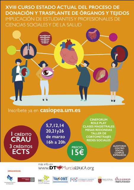 La Universidad de Murcia organiza curso sobre la donación y trasplante de órganos - 1, Foto 1