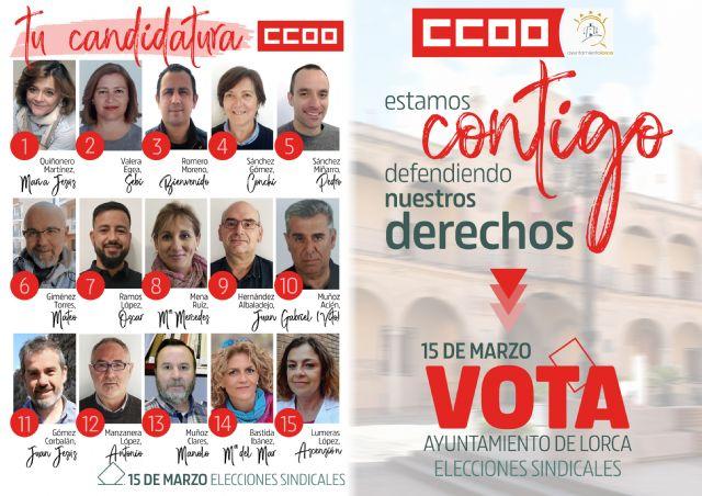 Comunicado CCOO Ayuntamiento de Lorca - 1, Foto 1