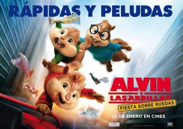 Se retoma este próximo fin de semana el programa de cine con la película Alvin y las ardillas. Fiesta sobre ruedas, Foto 1