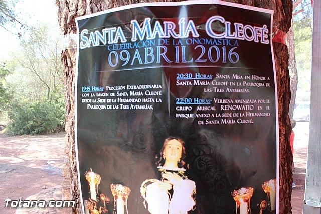La Hdad. de Santa María Cleofé organiza varias actividades con motivo de la onomástica de su titular, Foto 1