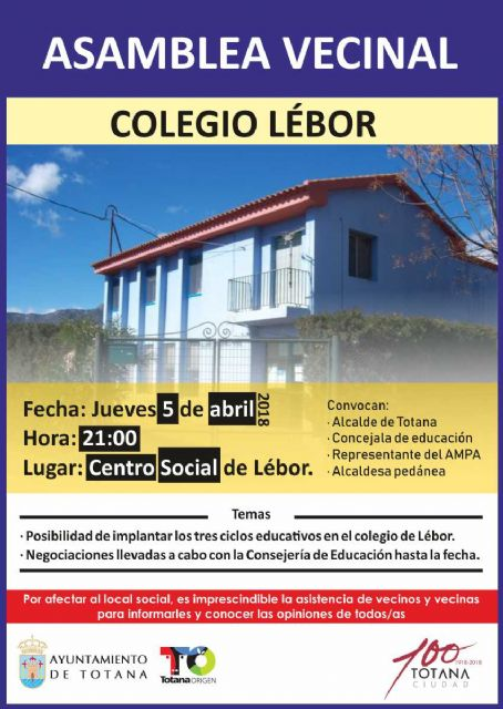 The Social Center of Lébor hosts tomorrow a neighborhood assembly to deal with matters related to Education with this parish