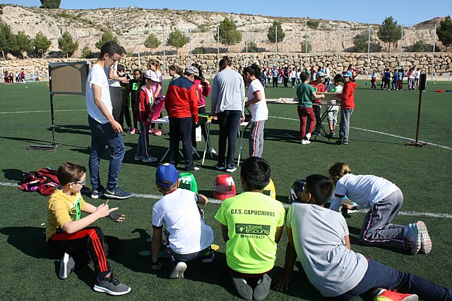 "About 450 fifth-grade students from ten Totana schools participate in the Popular Games Day at the ""Valverde Reina"" Sports City"