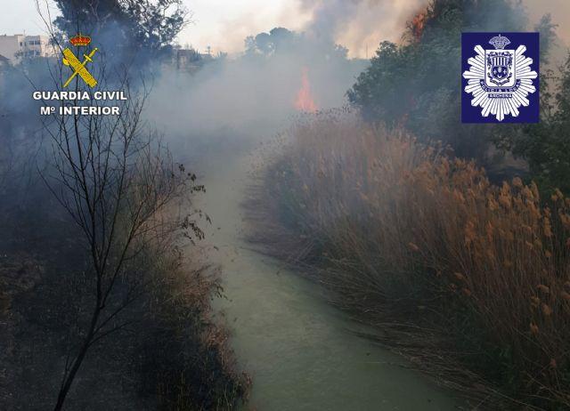 La Guardia Civil y la Policía Local de Archena esclarecen un incendio forestal provocado en la ribera del río Segura - 1, Foto 1