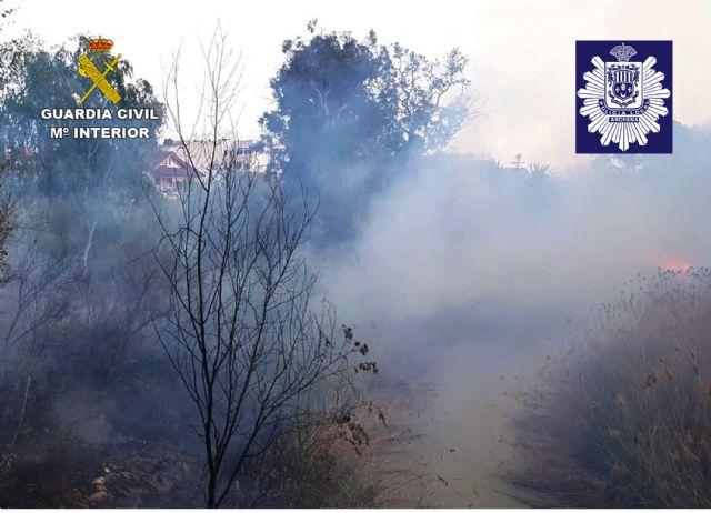 La Guardia Civil y la Policía Local de Archena esclarecen un incendio forestal provocado en la ribera del río Segura - 3, Foto 3
