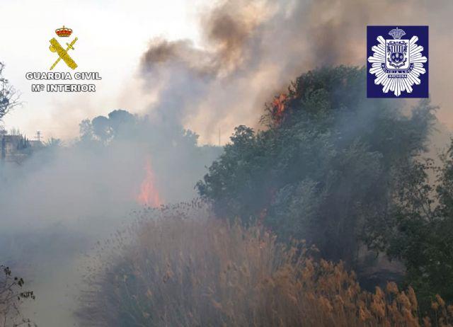 La Guardia Civil y la Policía Local de Archena esclarecen un incendio forestal provocado en la ribera del río Segura - 5, Foto 5