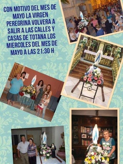 La delegación de Lourdes de Totana celebra el Santo Rosario por las calles de Totana, Foto 5