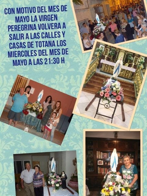 La delegaci�n de Lourdes de Totana celebra el Santo Rosario por las calles de Totana, Foto 5