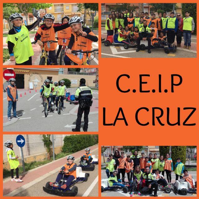 Un total de 370 escolares del CEIP La Cruz participa en las sesiones formativas de la Escuela de Educación Vial de la Policía Local, Foto 1