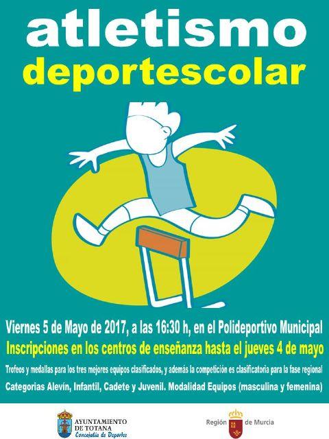 El Polideportivo Municipal 6 de diciembre acoge mañana la Fase Local de Atletismo de Deporte Escolar, Foto 1